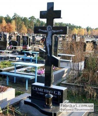 Стандартный памятник с крестом №61-002