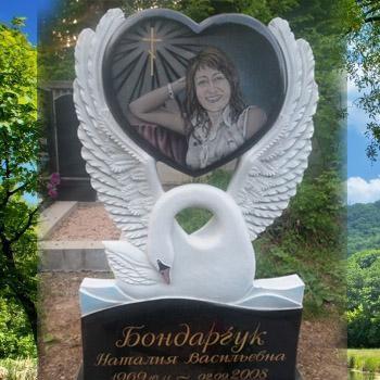 Памятник с лебедем на могилу № 101-01