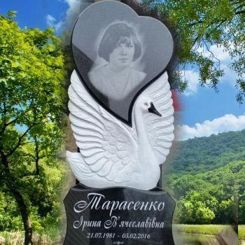 Памятник с лебедем на могилу № 101-02