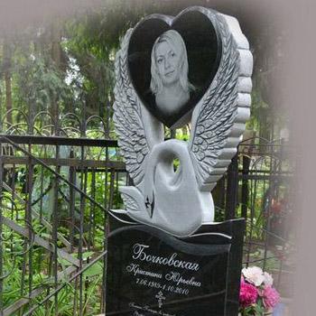 Памятник с лебедем на могилу № 101-04