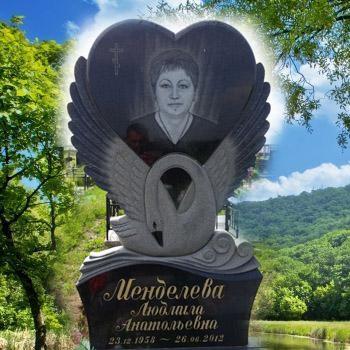 Памятник с лебедем на могилу № 101-05