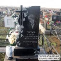 Женский памятник роза с крестом №12-049