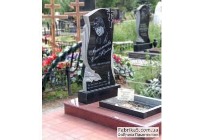 Женский фигурный памятник с розой №12-055, Женские памятники
