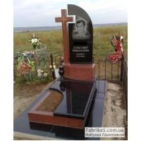 Престижный памятник с крестом из гранита №13-039