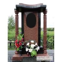 Элитный памятник с колоннами из гранита   №14-001