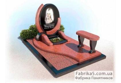 Необычный памятник из красного гранита №14-031, Элитные памятники
