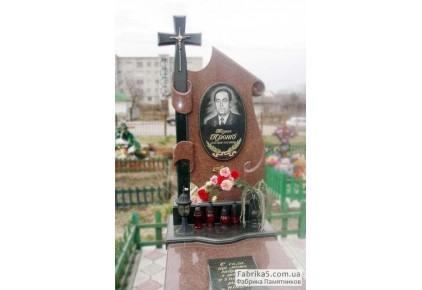Эксклюзивный памятник Парус с крестом №14-056, Памятники с крестом