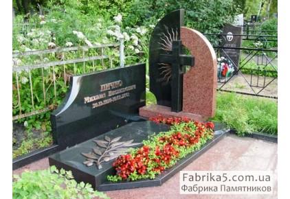 Двойной памятник на одинарное место  №23-052, Двойные памятники
