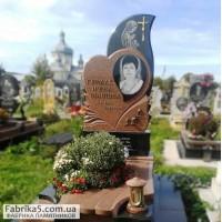 Женский памятник с сердцем   №75-023