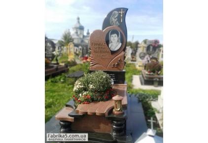 Женский памятник с сердцем   №75-023-1, Католические памятники